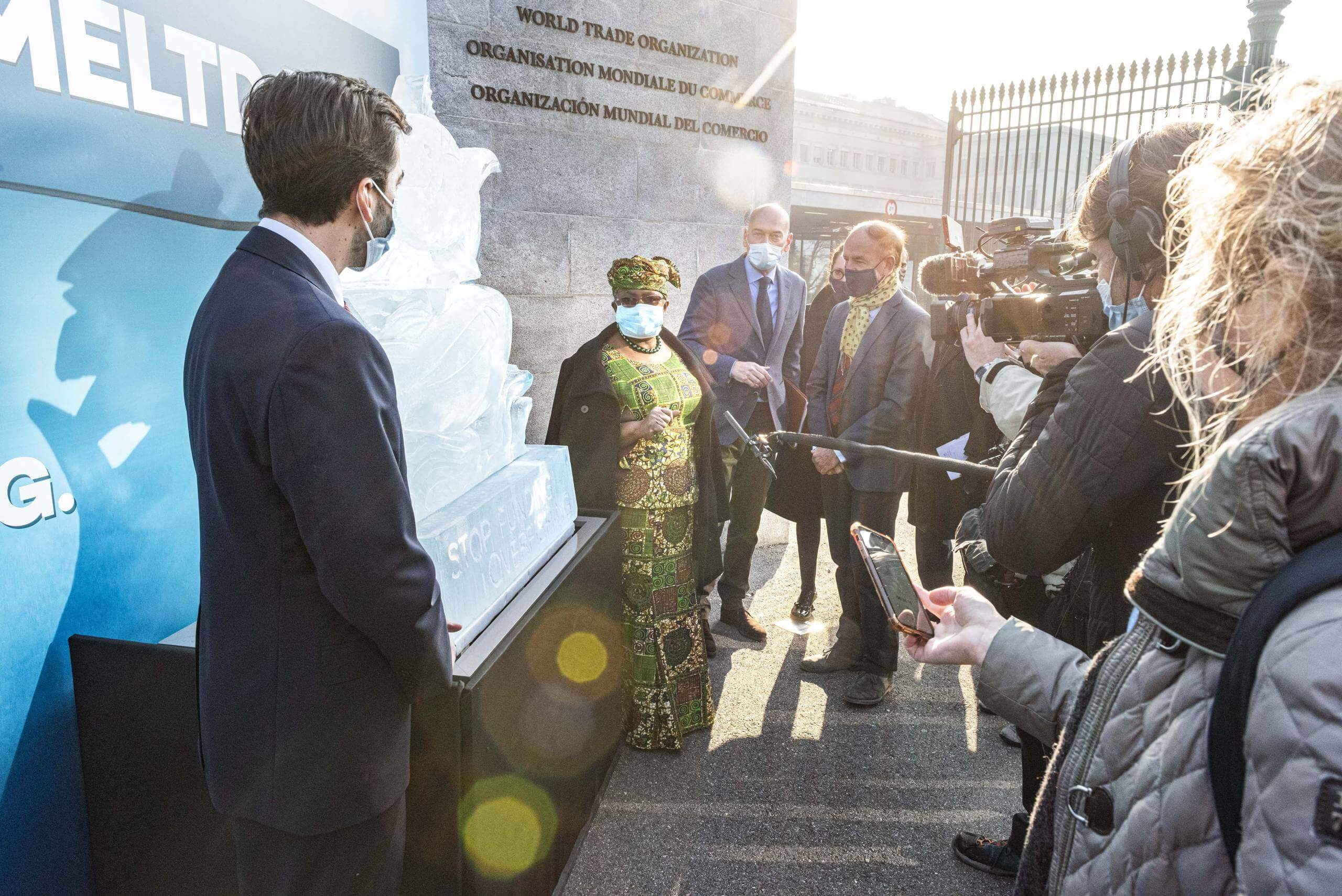 "Featured image for ""Stop the Fish Meltdown—say NGOs placing ice sculpture in front of the World Trade Organization headquarters"""